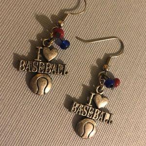 Chicago Cubs Baseball Earrings - Go CUBS GO!